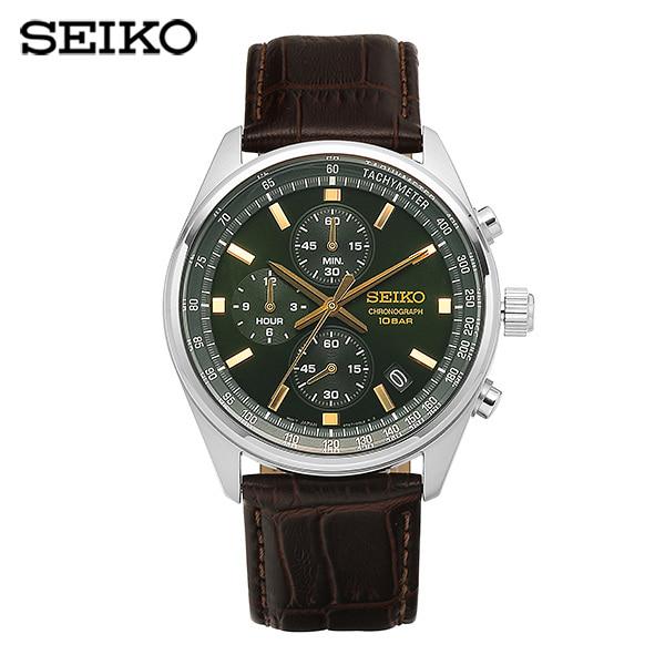 [세이코 SEIKO] SSB385P1 (SSB385J1) / 크로노그래프 쿼츠 남성 가죽시계 41mm 타임메카