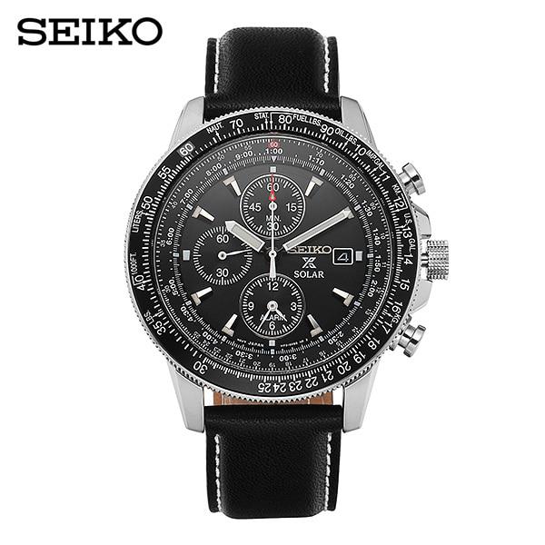 [세이코 SEIKO] SSC009P3 / 솔라 플라이트 마스터 파일럿 43mm