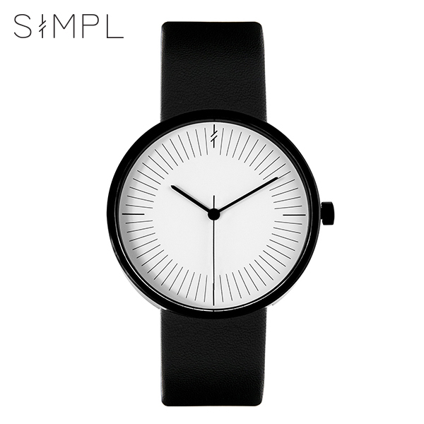 [심플워치 SIMPLEWATCH] SW-T1-M Monochrome Black 공용 손목시계 39mm