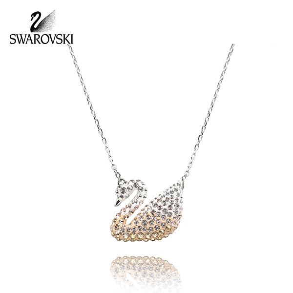 [스와로브스키 SWAROVSKI] 5215034 Iconic Swan 샴페인 스완 목걸이