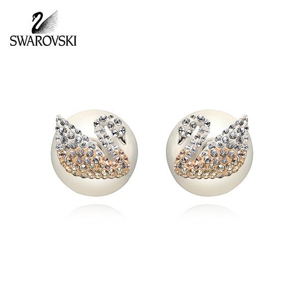 [스와로브스키 SWAROVSKI] 5215037 Iconic Swan 스완 귀걸이