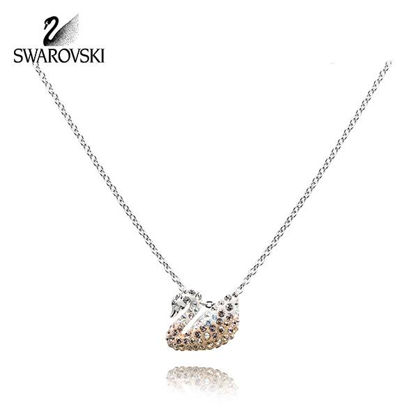 [스와로브스키 SWAROVSKI] 5215038 Iconic Swan Small 샴페인 스완 목걸이 미니