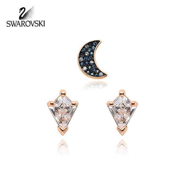 [스와로브스키 SWAROVSKI] 5494353 / Symbolic Moon Set 로즈골드 플래팅 귀걸이 타임메카