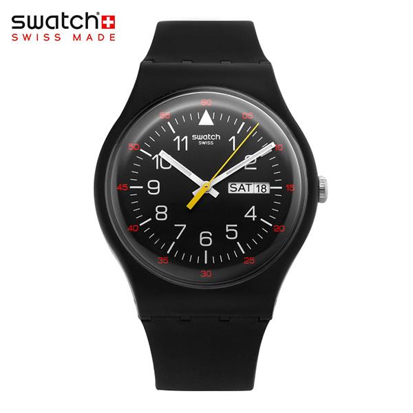 [스와치시계 SWATCH] SUOB724 / Yokorace Black Dial 남성 젤리시계 타임메카