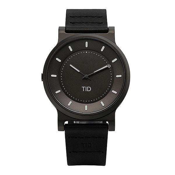 [티아이디 TID] 40101112 / No.4 Gun Metal / Black Leather Wristband 남성용 가죽시계 40mm 타임메카