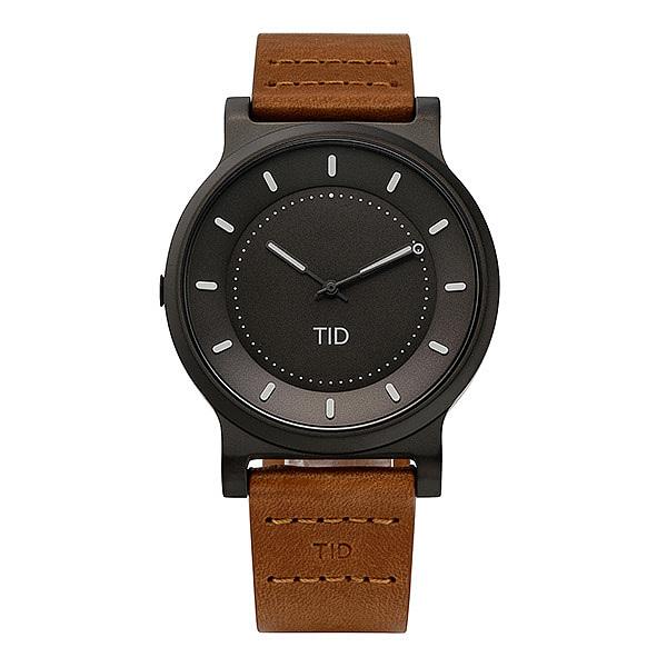 [티아이디 TID] 40101122 / No.4 Gun Metal / Tan Leather Wristband 남성용 가죽시계 40mm 타임메카