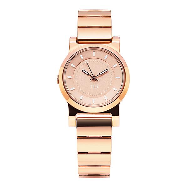 [티아이디 TID] 40202021 / No.4 Rose Gold / Rose Gold Metal Wristband 여성용 메탈시계 28mm 타임메카
