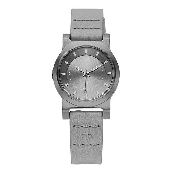 [티아이디 TID] 40303141 / No.4 Silver Grey / Grey Leather Wristband 여성용 가죽시계 28mm 타임메카