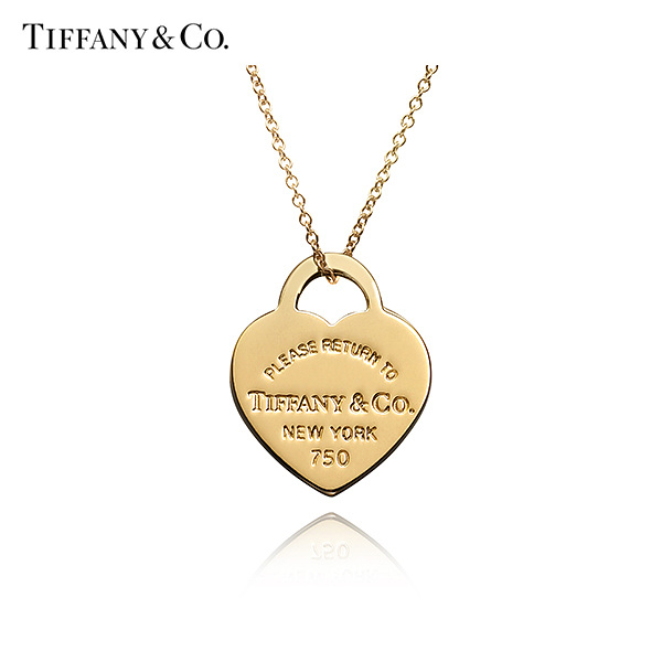 [티파니앤코 TIFFANY&CO] 21453145 / Return to Tiffany 리턴 투 티파니 18K 골드 하트 태그 목걸이 스몰 타임메카