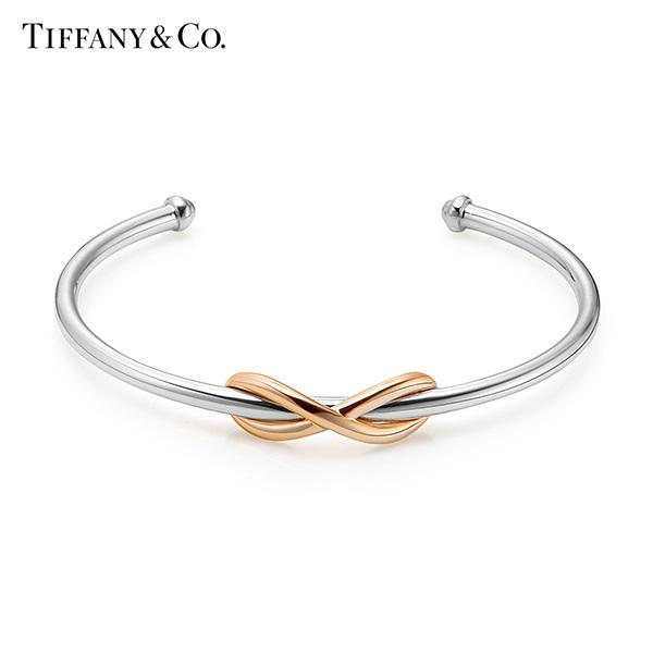 [티파니앤코 TIFFANY&CO] 35258868 / Tiffany Infinity 티파니 인피니티 18k 로즈골드 실버 커프 팔찌 타임메카