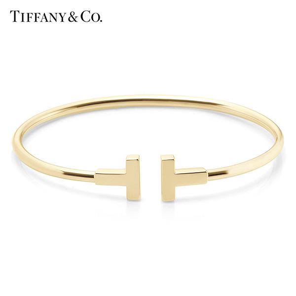 [티파니앤코 TIFFANY&CO] GRP07790(33419066) / Tiffany T 티파니 T 와이어 18K 골드 팔찌 미듐 타임메카