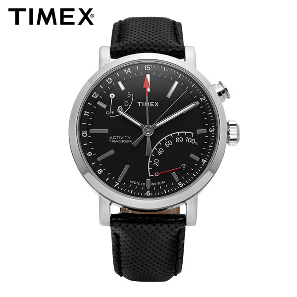 [타이맥스시계 TIMEX] TW2P81700 / 액티비티 트래커 Activity Tracker 남성용 가죽시계 42mm