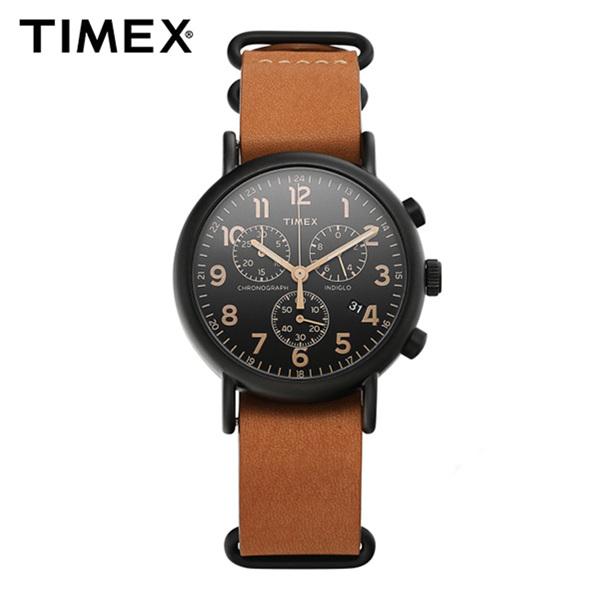 ☆-) [타이맥스시계 TIMEX] TW2P97500 / 위켄더 인디글로라이트 크로노그래프 Weekender Indiglo Chronograph 40mm