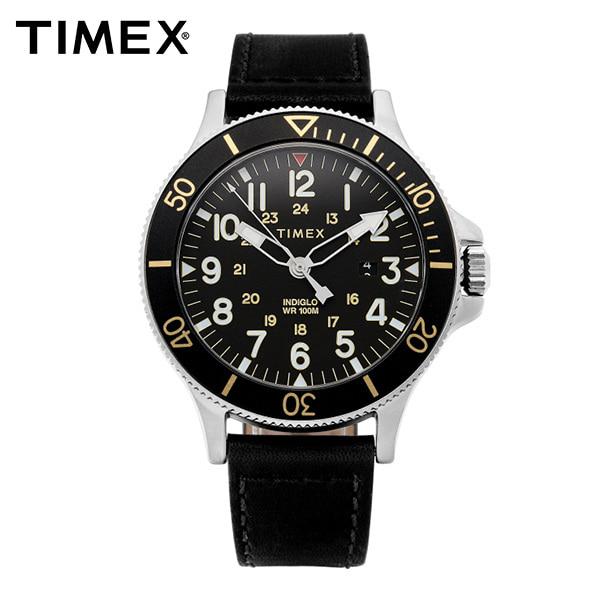 [타이맥스시계 TIMEX] TW2R45800 / 얼라이드 Allied Coastline 남성용 가죽시계 43mm