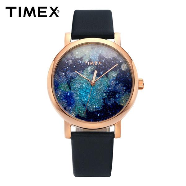 [타이맥스시계 TIMEX] TW2R66400 / 크리스탈 블룸 Crystal Bloom 여성용 가죽시계 38mm