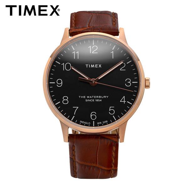 [타이맥스시계 TIMEX] TW2R71400 / Waterbury Classic 워터베리 클래식 남성용 가죽시계 40mm