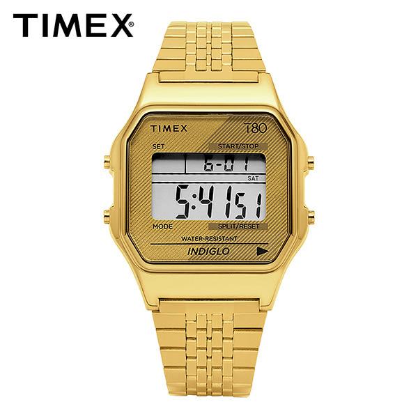 [타이맥스 TIMEX] TW2R79200 / T80 디지털 쿼츠 남성 메탈시계 34mm 타임메카