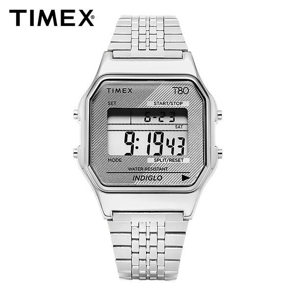 [타이맥스 TIMEX] TW2R79300 / T80 디지털 쿼츠 남성 메탈시계 34mm 타임메카
