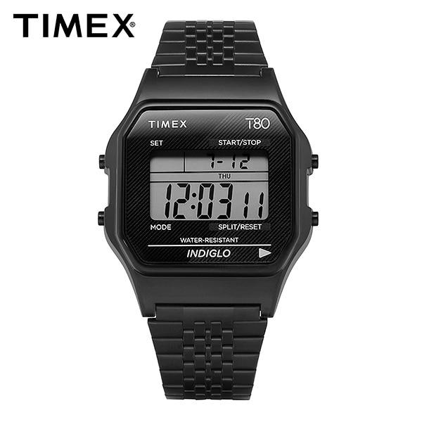 [타이맥스 TIMEX] TW2R79400 / T80 디지털 쿼츠 남성 메탈시계 34mm 타임메카