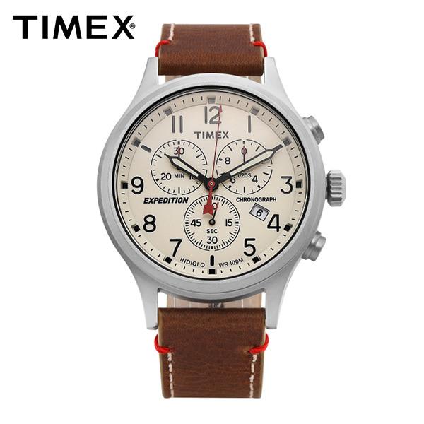 [타이맥스시계 TIMEX] TW4B04300 / 익스페디션 Expedition 스카우트 크로노 남성용 가죽시계 42mm