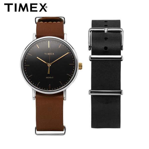 [타이맥스시계 TIMEX] TWG016500 / Fairfield Gift Set 페어필드 기프트 세트 가죽시계 41mm