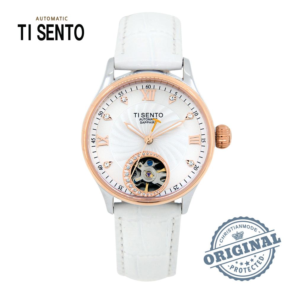 [티센토 TISENTO] TS50301CBWT 사파이어 오픈휠 34mm 디버클 여성시계