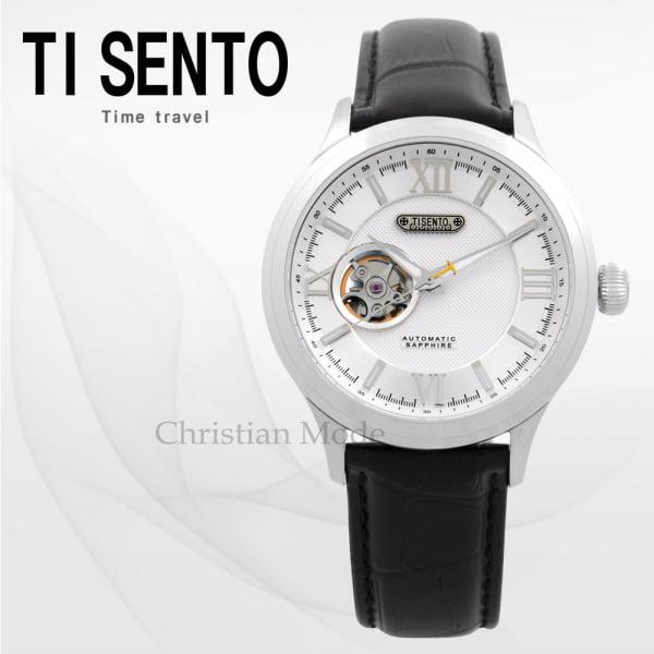 [티센토 TISENTO] TS50801WTBK /본사정품 재팬무브먼트 오토매틱 남성가죽시계