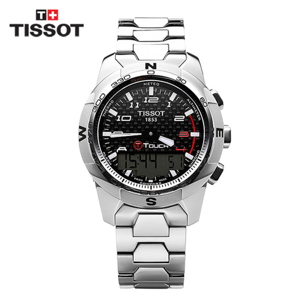 [티쏘 TISSOT] T047.420.44.207.00(T0474204420700) / 티터치 T-Touch II Altimeter 티타늄 시계 43mm
