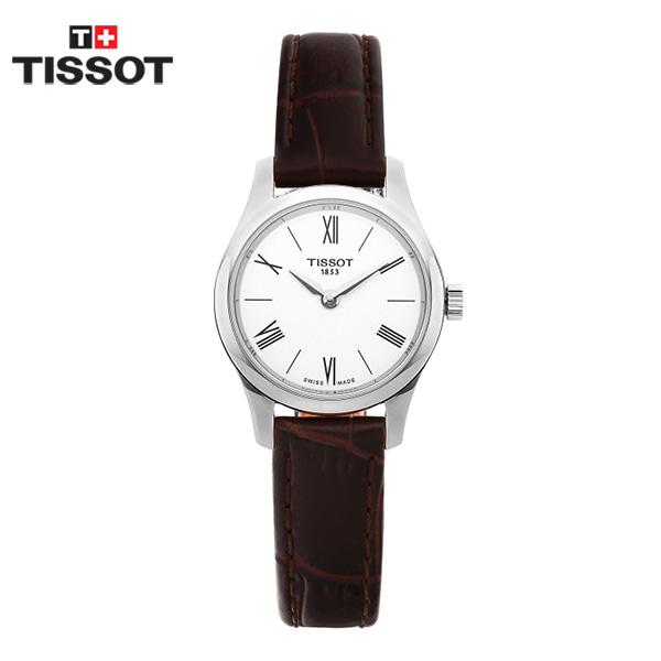 [티쏘시계 TISSOT] T063.009.16.018.00 / 트레디션 Tradition 여성용 가죽시계 25mm