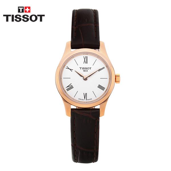[티쏘시계 TISSOT] T063.009.36.018.00 / 트레디션 Tradition 여성용 가죽시계 25mm