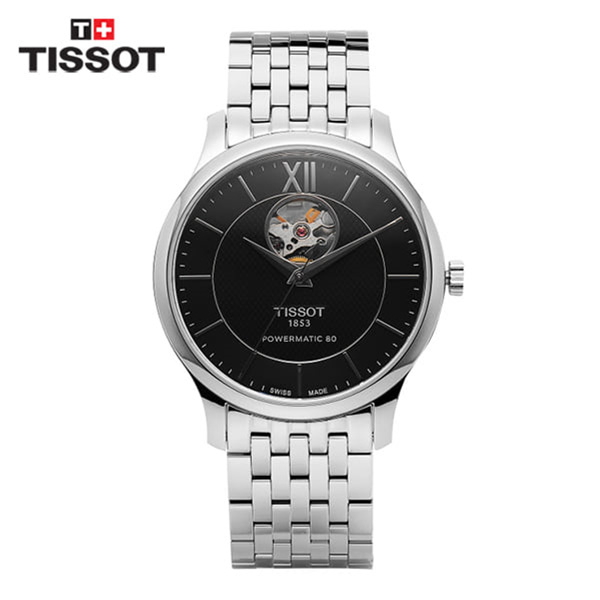 [티쏘 TISSOT] T063.907.11.058.00(T0639071105800) / 트레디션 오픈하트 Tradition OpenHeart 40mm