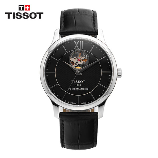 [티쏘 TISSOT] T063.907.16.058.00(T0639071605800) / 트레디션 오픈하트 Tradition OpenHeart 40mm
