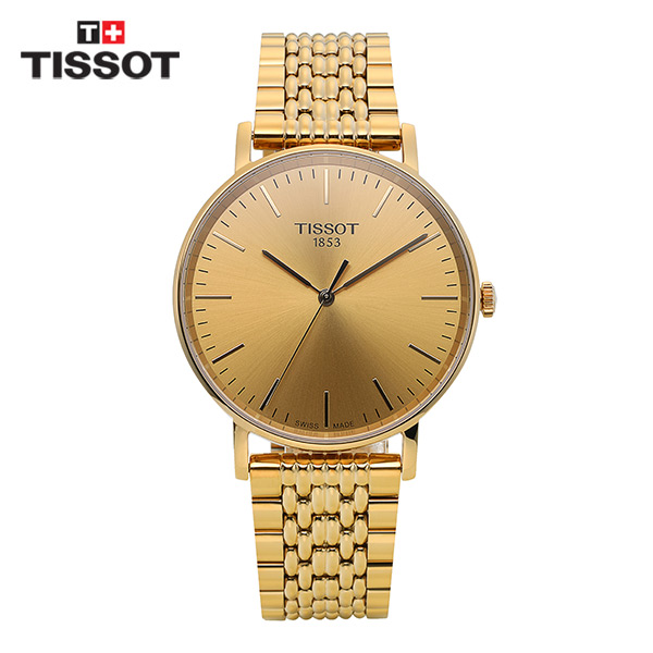 [티쏘시계 TISSOT] T109.410.33.021.00 (T1094103302100) T-Classic Everytime Gold 38mm