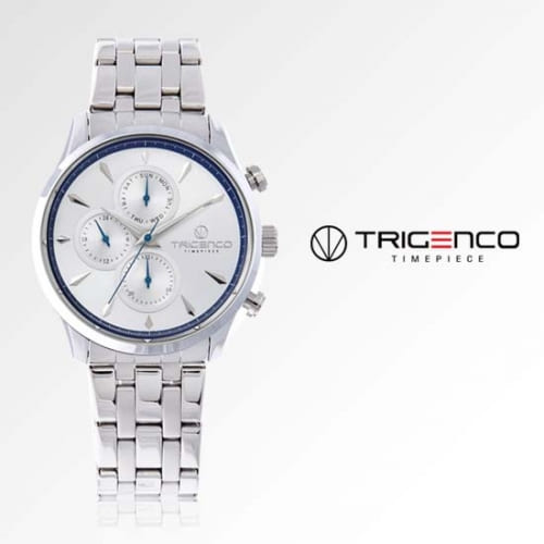 [트리젠코시계 TRIGENCO] TG-0300M-WH 멀티펑션 남성용 메탈시계 43mm