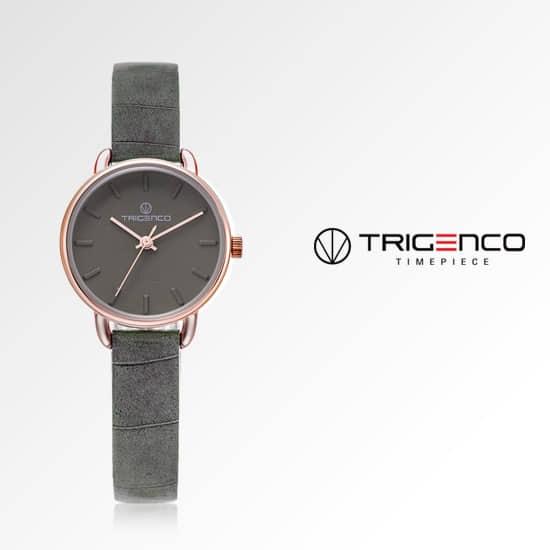 [트리젠코시계 TRIGENCO] TG-0500-RGR 아날로그 여성용 가죽시계 26mm