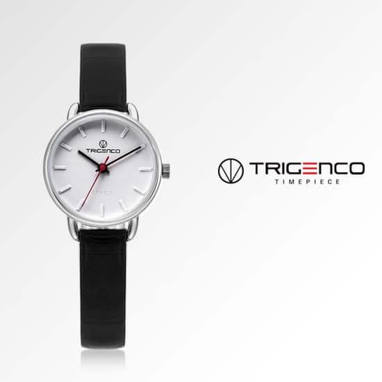 ☆-) [트리젠코시계 TRIGENCO] TG-0500-WH 아날로그 여성용 가죽시계 26mm