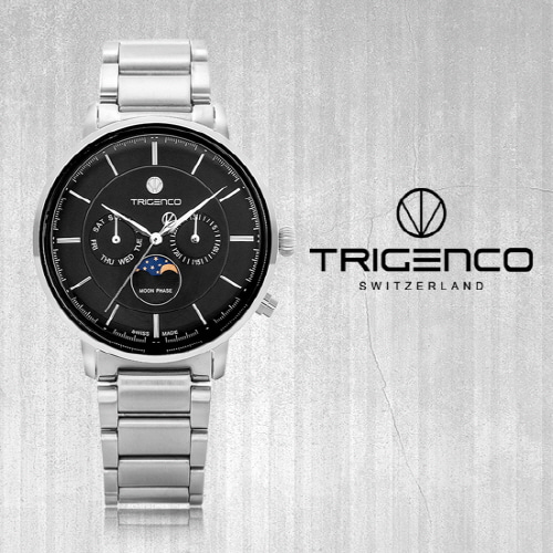 [트리젠코시계 TRIGENCO] TG-1000-WBK Zivil(지빌) /SWITZERLAND