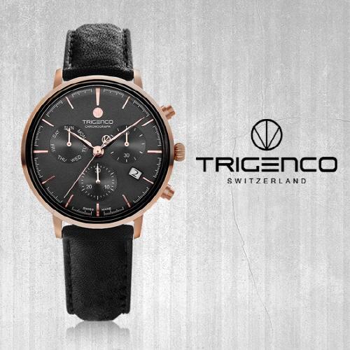 [트리젠코시계 TRIGENCO] TG-3000L-RGG/BK Zeitmesser(자이트메써) SWITZERD 42mm