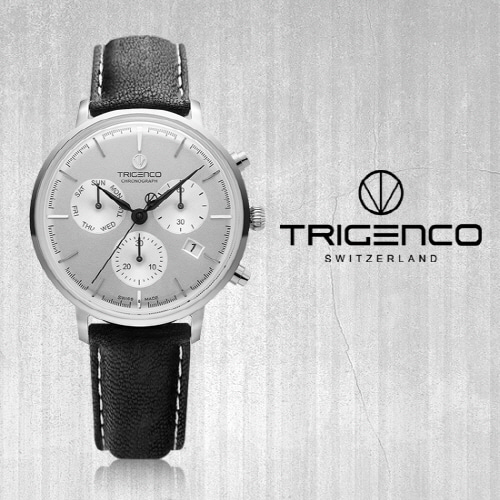 [트리젠코시계 TRIGENCO] TG-3000L-WH/BK Zeitmesser(자이트메써) SWITZERD 42mm ★성시경 시계