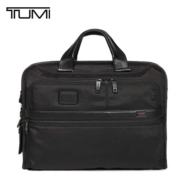 [투미 TUMI] 26108D2 (026108D2) ALPHA2 26108 (Black) Organizer Portfolio Brief / 투미 알파2 오가나이저 브리프