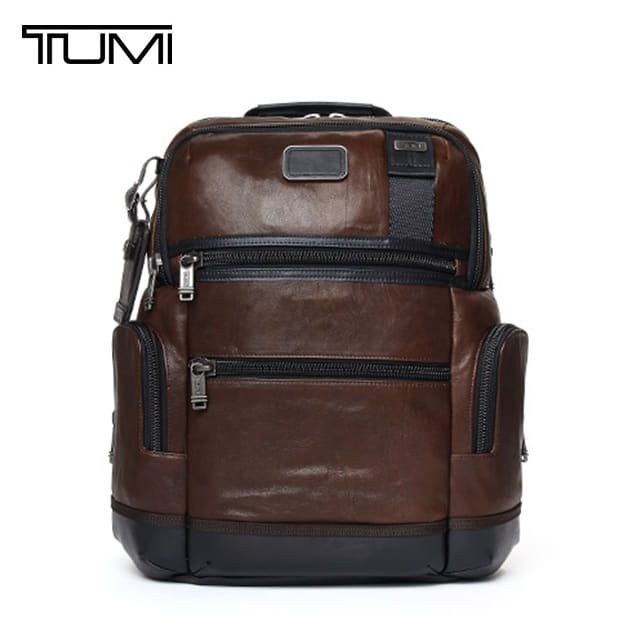 [투미 TUMI] 92681DB2 (092681DB2) ALPHA BRAVO Knox Leather Backpack (Dark Brown) 92681 / 투미 알파 브라보 녹스 레더 백팩