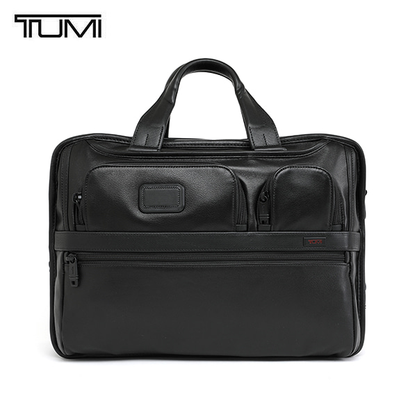 [투미 TUMI] 96141D2 (096141D2) ALPHA2 Expandable Organizer Laptop Leather Brief (Black) 96141 / 알파2 오거나이저 노트북 브리프 케이스