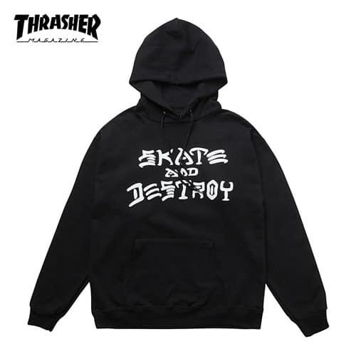 [트래셔 Thrasher] 314225-BLK 후드 Skate And Destroy Hood