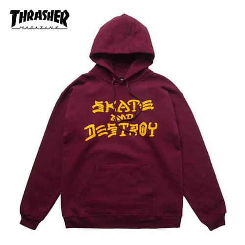 [트래셔 Thrasher] 314225-MRN 후드 Skate And Destroy Hood