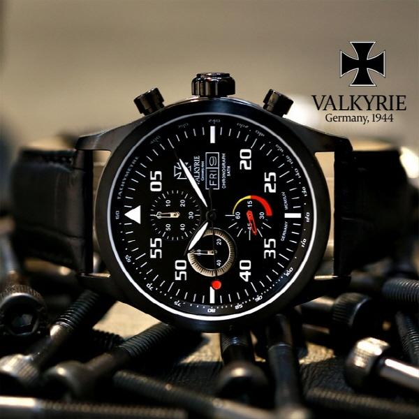 [발키리 VALKYRIE] V-7021VB VALKYRIE STAUFFENEBRG VERTICAL BLACK스타우펜베르그 버티컬블랙+베젤부착형 옵션 (사은품 증정)