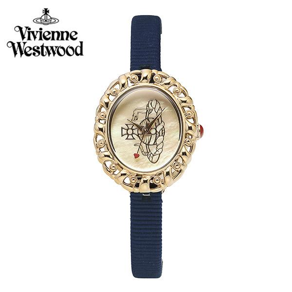 [비비안웨스트우드] VV005CMBL 오브 Orb 쿼츠 여성 가죽 시계 24x28.7mm 타임메카