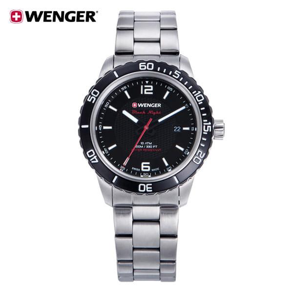 [웽거 WENGER] 01.0851.122 스위스 정식수입 본사정품 가죽시계 45mm