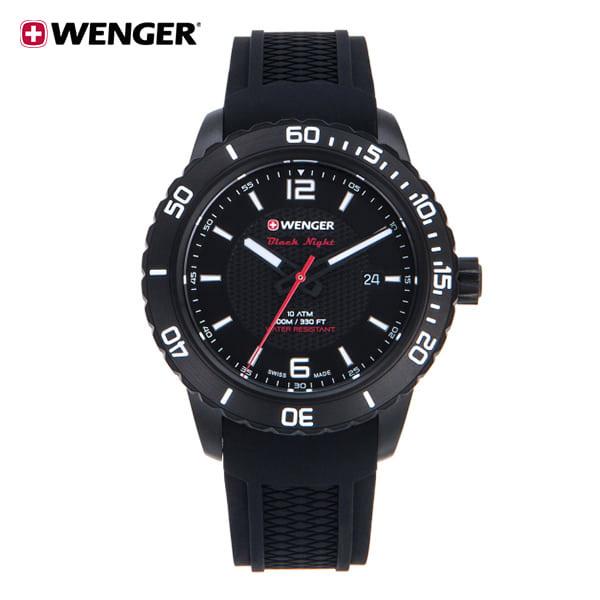 [웽거 WENGER] 01.0851.124 스위스 정식수입 본사정품 가죽시계 45mm