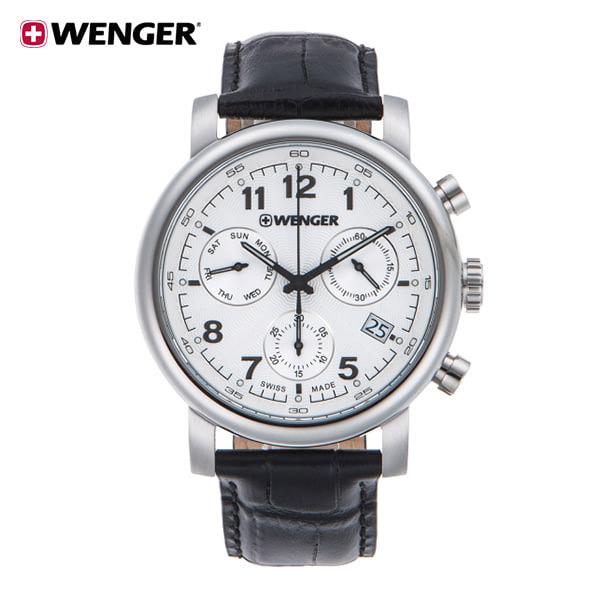 [웽거 WENGER] 01.1043.109 스위스 정식수입 본사정품 가죽시계 43mm
