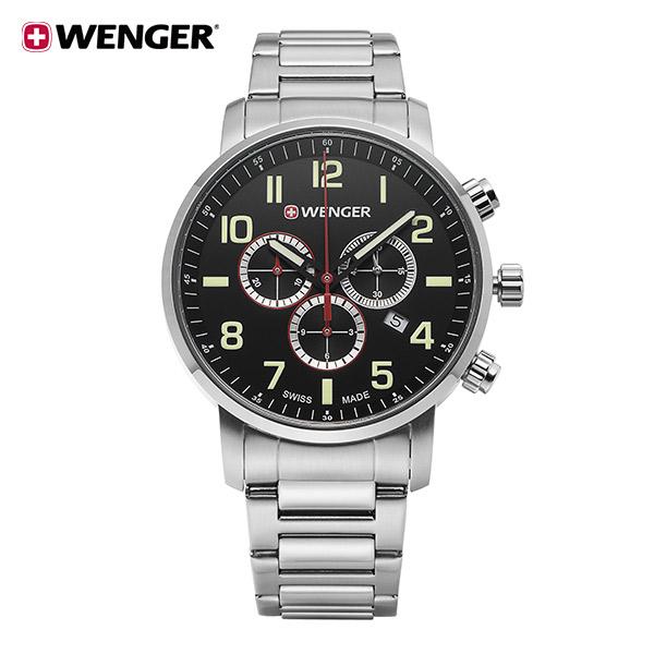 [웽거 WENGER] 01.1543.102 스위스 정식수입 본사정품 메탈 시계 44mm